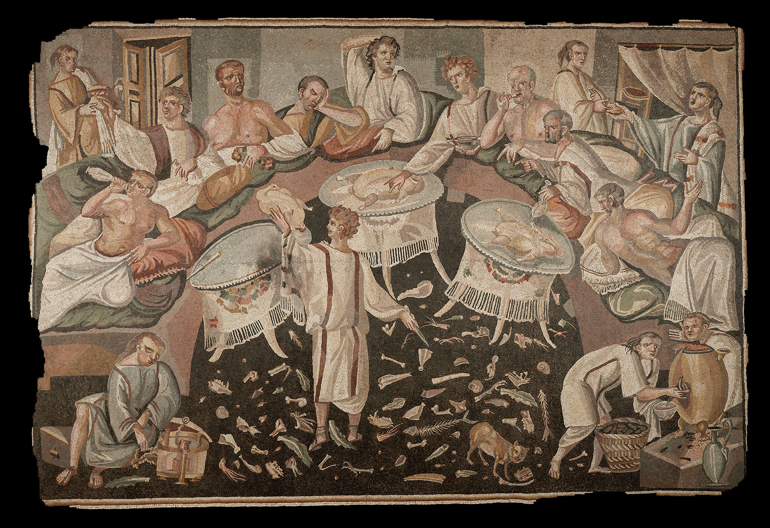 Mosaic of a Symposium with Asarotos Oikos